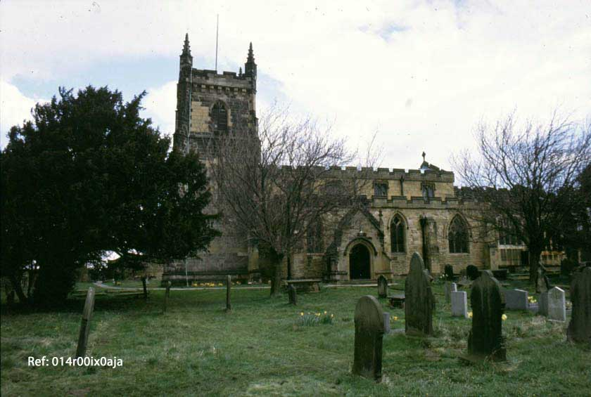 St. Oswald's Church, south view, 1989
