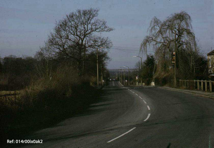 Methley Lane from the Royal Oak corner