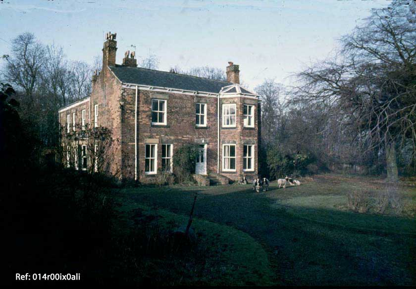 The front and south side of the Estate Manager's house in 1981.