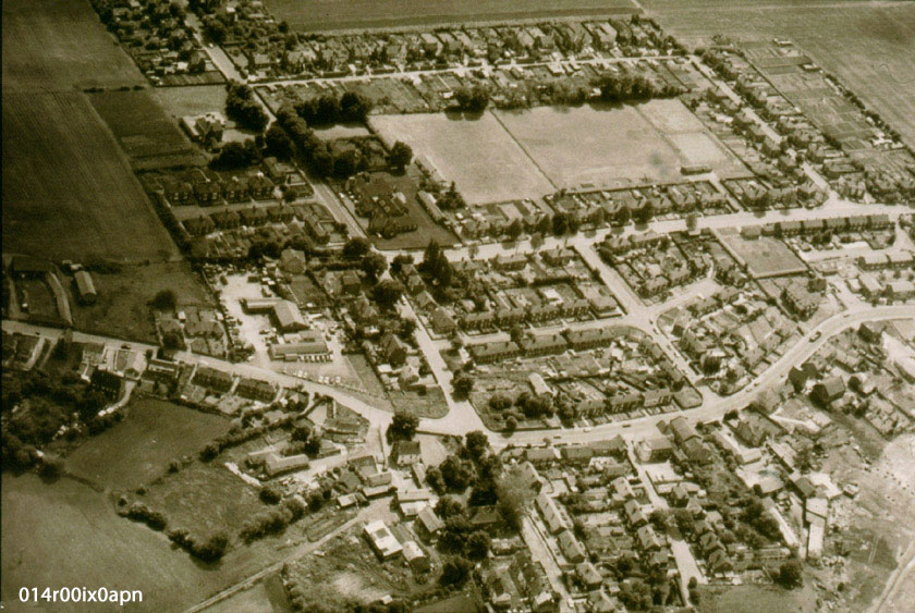 Aerial view of Mickletown 1983.