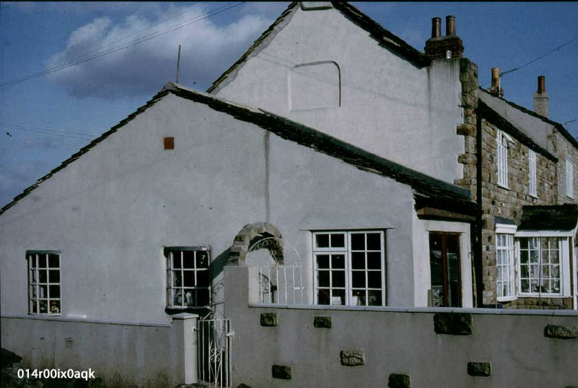 Talbot House and the former attached shop in March 1990