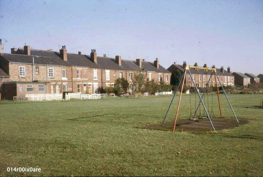 Two rear rows of Coney Moor Houses, 1983.