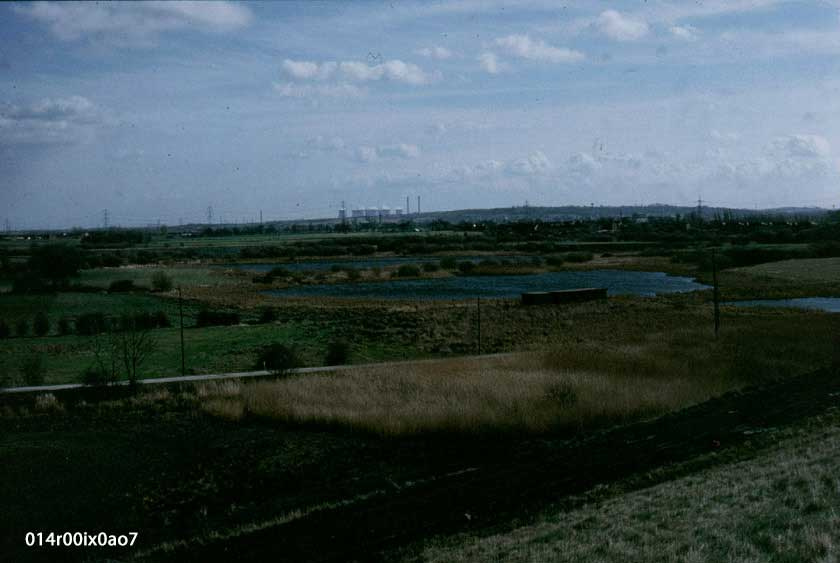View from the Savile Pit Spoil Heap, March 1990.